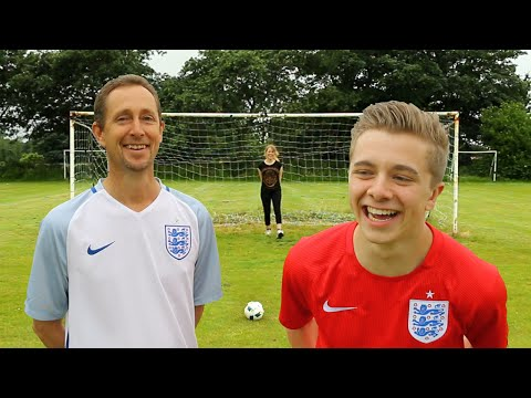 THE BEST EVER EURO GOALS RECREATION BATTLE VS MY DAD