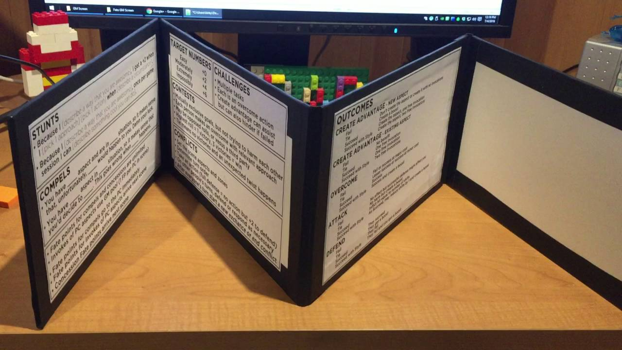 Easy GM Screen For Role Playing Games YouTube