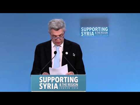 UK: High Commissioner Calls for More Funding at Support Syrians Conference