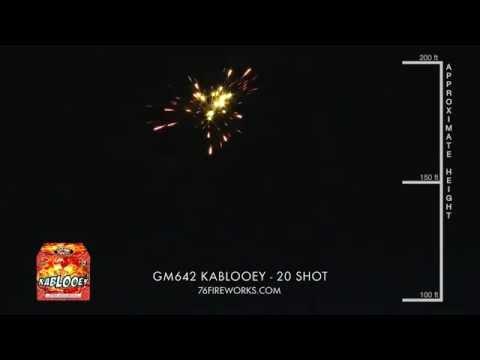GM642 Kablooey Fireworks - 20 Shot