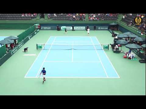Davis Cup 2018 G2R1: David Agung Susanto vs Lim
