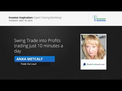 Swing Trade into Profits trading just 10 minutes a day | Anka Metcalf