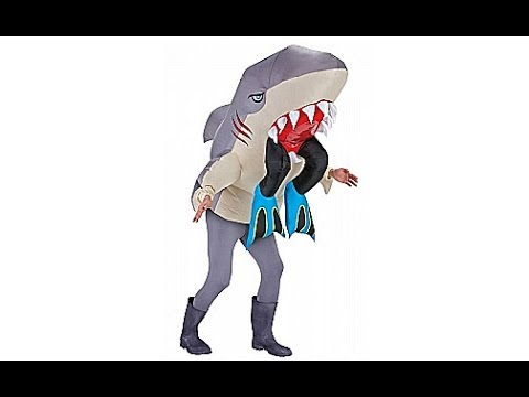 Inflatable Shark Adult Costume  sc 1 st  YouTube & Inflatable Shark Adult Costume - YouTube