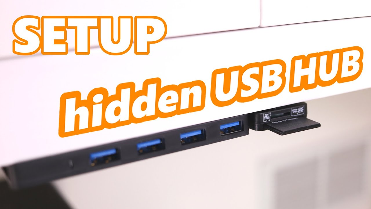 setup under desk mounted usb hub card reader tutorial and tips youtube. Black Bedroom Furniture Sets. Home Design Ideas