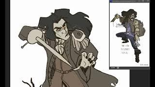 Black Mar_Cpt Salazar Speed Draw
