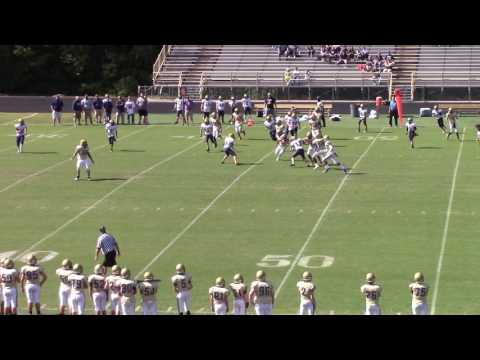 Somerset-Meece Middle School RB slams defensive player with one arm on punt return for TD