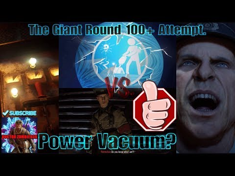 BO3 Zombies - The Giant Round 100+ Attempt. Training at Power/Trap Strategy.