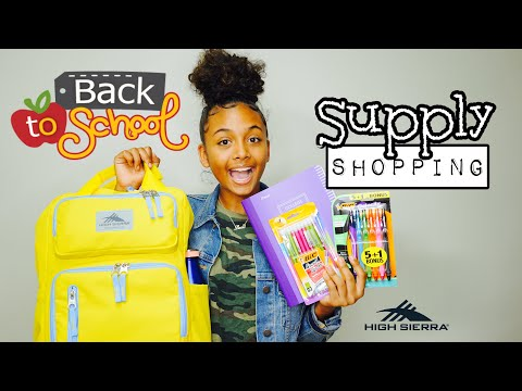 Back to School Supply Shopping Haul (Junior Year) | LexiVee03