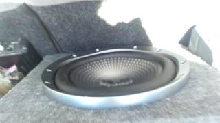 12 inch JL Audio PowerWedge and Sony Xplod XS-GTR121L Subwoofers Half Volume