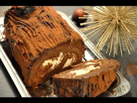 bûche-de-noël-aux-marrons,-chocolat-et-praliné-croustillant!