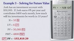 Time Value of Money Calculations on the BA II Plus Calculator