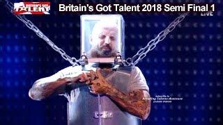 Matt Johnson BREATH TAKING ESCAPE  Britain's Got Talent 2018 Semi Final Group 1 BGT S12E08
