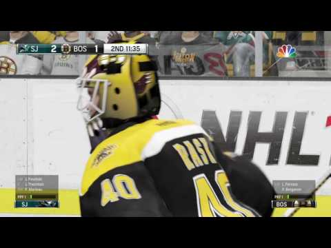NHL 16 San Jose Sharks VS Boston Bruins (PS4) (Season Mode)