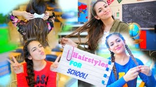 Back To School: 5 Quick Hairstyle Ideas! ♥ NO HEAT Thumbnail