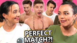 7 Guys Take My Twin Sister's Couple's Compatibility Test | Twin My Heart w/ The Merrell Twins EP 2