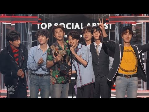 BTS Wins Top Social Artist @ 2018 Billboards Music Awards [1080 HD]