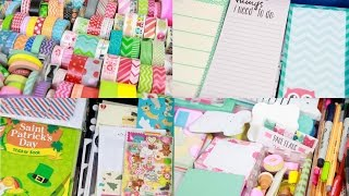 Planner Supply Collection and Organization