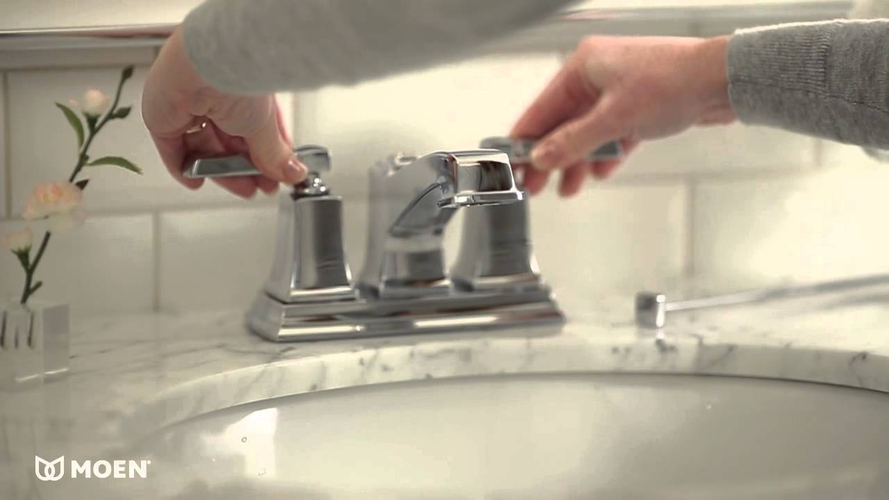 Boardwalk 2Handle Bathroom Sink Faucet  Moen Features