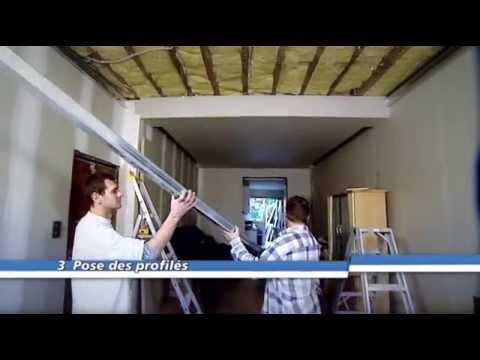 Suspendre un plafond metal stud youtube - Plaque isolante plafond ...