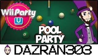 Wii PARTY U | Pool Party Minigame | Gameplay/Commentary Dazran303
