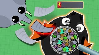 ELEPHANT DESTROYING ALL BLACK DRAGONS/DRAGONS IN MOPE.IO! ELEPHANT TROLLING ALL ANIMALS! (Mope.io)