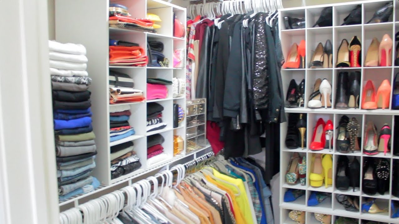 Peakmillu0027s Closet Tour 2014| How I Organize My Clothes, Shoes, Bags,  Jewelry, ETC   YouTube