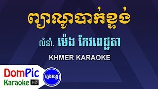 ព្យាណូបាក់ខ្ទង់ ម៉េង កែវពេជ្ជតា ភ្លេងសុទ្ធ - Piano Bak Ktong Meng Keo Pichenda - DomPic Karaoke