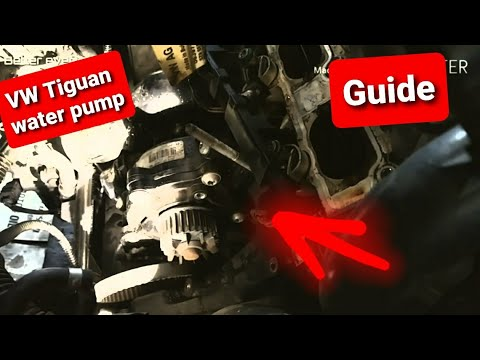 """""""Vw"""" tiguan How to remove """"water pump"""" and thermostat easy steps.DIY """"coolant leak"""""""