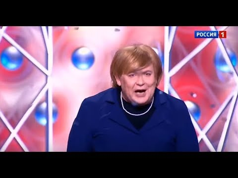 Angela Merkel in russischer TV-Show