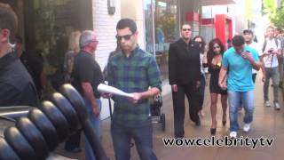 Nicole Snooki Polizzi walking with Giovanni at the Grove in Hollywood