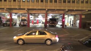 Chicago Fire Engine 42, Truck 3, Squad 1, Ambulance 42 Responding Out Of Fire Station, 55 W Illinois