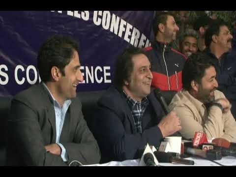 Press Conference sajjad gani lone