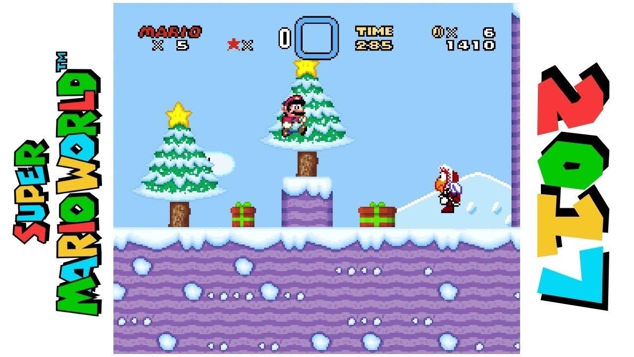 Super Mario World Christmas.Super Mario World Christmas Edition Hack Of Super Mario World
