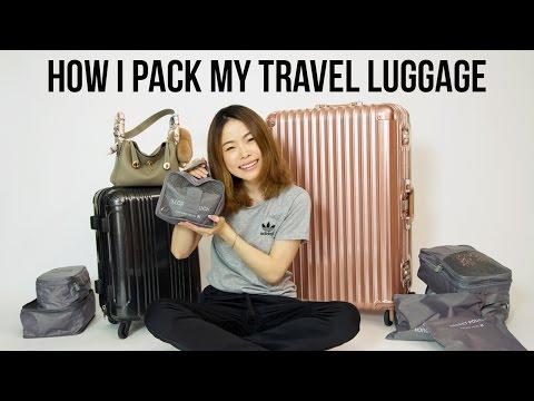 เทคนิคการจัดกระเป๋าเดินทางใบใหญ่+carry on+เครื่องสำอาง | Janemakeup