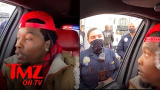 Offset Cuffed Then Released After Run In with Pro Trump Crowd | TMZ TV
