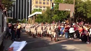 Texas A&M Corps of Cadets, March In - At the Review Stand - Fort Worth, Sept. 27, 2014