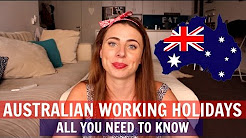 AUSTRALIA WORKING HOLIDAYS - 1ST & 2ND YEAR VISAS