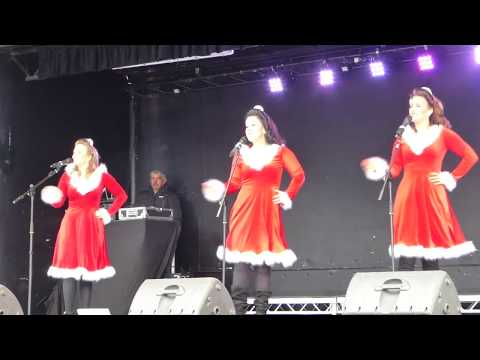 Boogie Woogie Bugle Boy Before 2017 Santa Run Horsecross Plaza Perth Perthshire Scotland