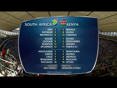 South Africa vs Kenya Capetown 7s 2015/16