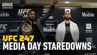 UFC 247 Media Day Staredowns - MMA Fighting