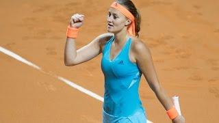 2017 Porsche Tennis Grand Prix Second Round | Kristina Mladenovic vs Kerber | WTA Highlights