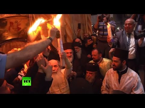 Eastern Orthodox Christians take part in Holy Fire ceremony in Jerusalem
