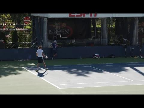 LIVE US Open Tennis 2017: Alexander Zverev and Mischa Zverev Practice