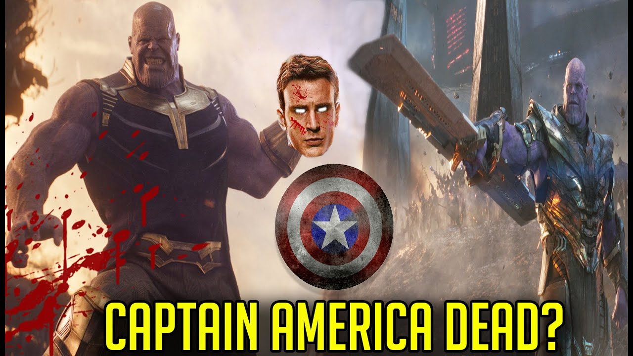 Thanos Decapitates Captain America's Head Avengers Endgame ...