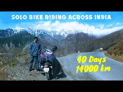 Solo Bike Riding Across India 2016 Shadab Ansari From Jamshedpur 14000 km in 40 Days