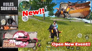 Open New Event - AWM Geisha and Portable -  Velociraptor / Rules of Survival / Ep 265