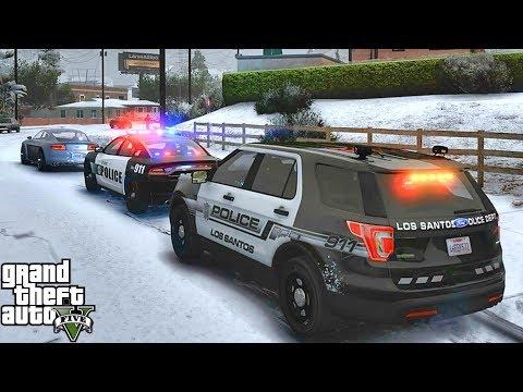 GTA 5 MODS LSPDFR 992  - CITY SNOW PATROL!!! (GTA 5 REAL LIFE PC MOD)
