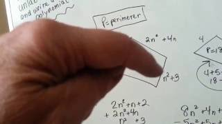 Find length of unlabeled side, write as polynomial (Intro Algebra #89)