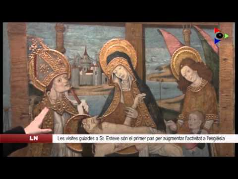 S'inicien les  visites a l'església de Sant Esteve d'Olot