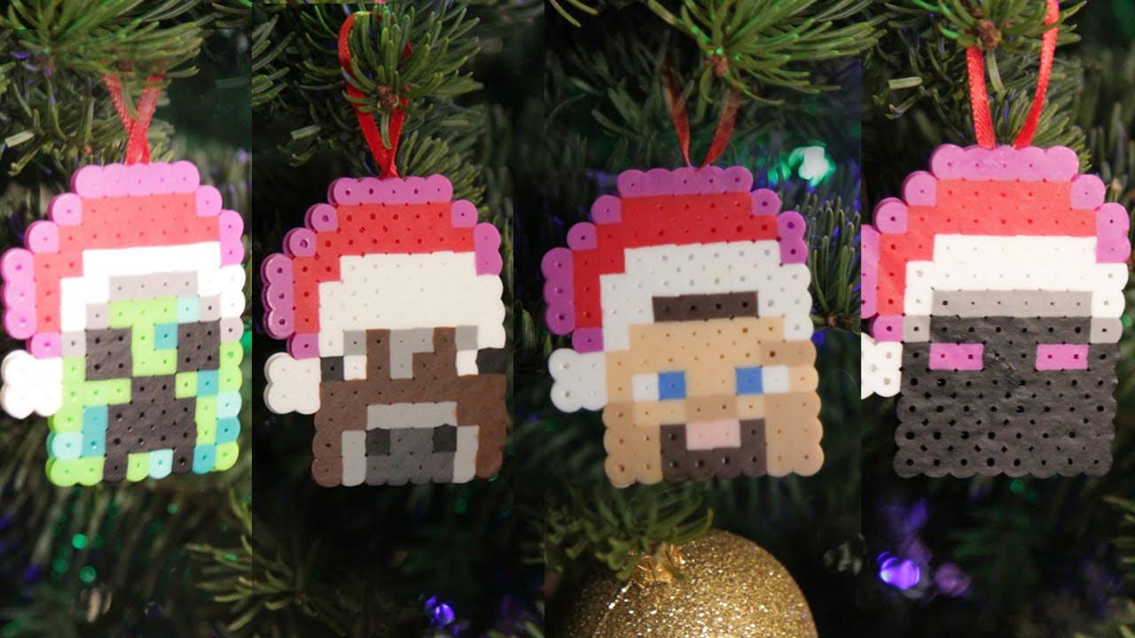 Minecraft Perler Beads Christmas Ornaments